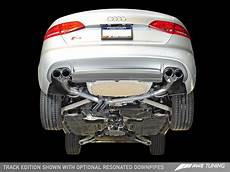 awe tuning audi s4 3 0t track edition exhaust diamond black tips 102mm