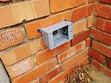 add an exterior outlet a brick house homediygeek