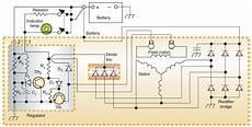ac generator circuit diagram with internal regulator electrical engineering blog