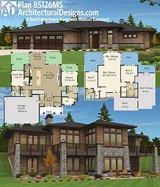 contemporary house plans with walkout basement plan 85126ms prairie ranch home with walkout basement in