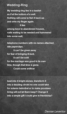 wedding ring poem by denise levertov poem hunter