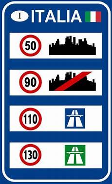limitation de vitesse limitations de vitesse en italie wikip 233 dia