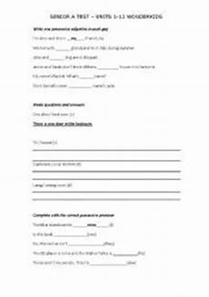 english worksheets test for 8 10 year olds present simple