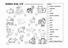 animal worksheets grade 2 13869 dobble animal worksheet