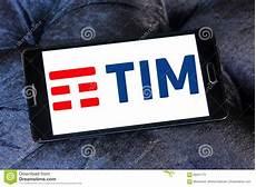 tim mobile italy telecom italia tim logo editorial stock photo image of