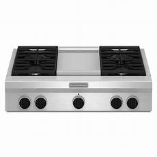 Kitchenaid Cooktop With Grill by Kitchenaid 36 In Gas Cooktop In Stainless Steel With