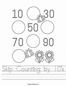 worksheets on skip counting by 10 s 11973 skip counting by 10 s worksheet twisty noodle