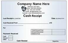 cash receipt form exles vatansun