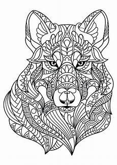 Malvorlagen Wolf Craft Ausmalbilder Tiere Erwachsene Wolf