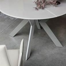 Table Ronde Design Extensible En Verre Et M 233 Tal Vale 4
