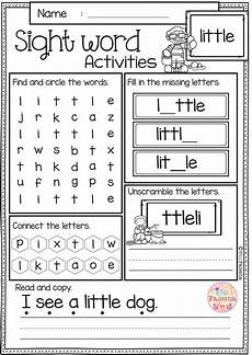 building sight words worksheets 21020 sight word activities pre primer classroom activities and morning work
