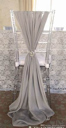 2019 ivory chiffon chair sashes wedding party deocrations
