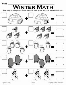 winter worksheet for 5th grade 20179 free winter themed quot addition with pictures quot math worksheet supplyme