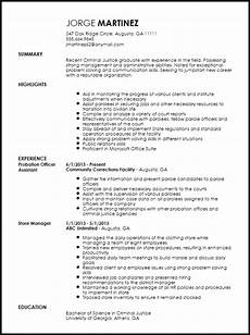 free entry level probation officer resume template resume now
