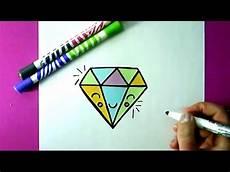 einen diamanten selber malen diy zeichnen lernen