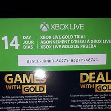 free 14 day xbox live gold membership code xbox