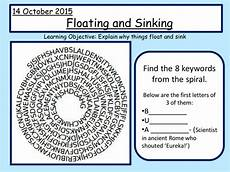 float and sink word search buoyancy density floating and sinking by laurenbuss