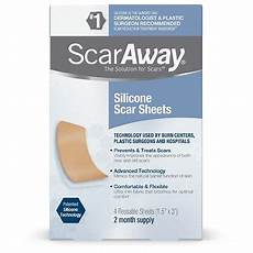 scaraway silicone scar treatment sheets 1 5 3 inch walgreens