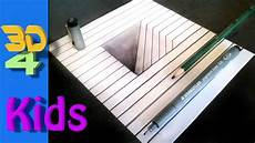 easy 3d drawing draw hatch in paper step by step for