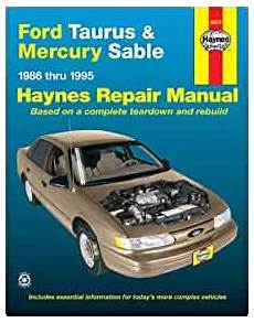 what is the best auto repair manual 1986 toyota mr2 spare parts catalogs ford taurus mercury sable 1986 thru 1995 haynes automotive repair manual haynes