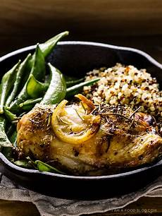 oven roasted rosemary chicken thighs sugar snap peas