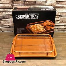 buy non stick copper crisper tray cook crispy food without or butter at best price in