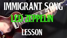 how to play song on guitar how to play quot immigrant song quot on guitar by led zeppelin electric guitar lesson tutorial