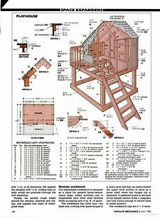 simple cubby house plans popular mechanics playhouse idea and add slide with