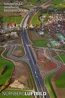 Autobahn A3 Baustellen - autobahn a3 geiselwind baustand oktober 2017 luftaufnahme