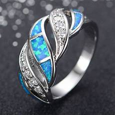 blue fire opal zircon wedding ring men s 925 silver engagement band sz5 10 ebay