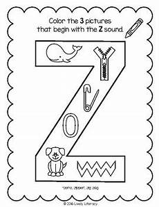 lively literacy letter sound of the week phonics worksheets z zed