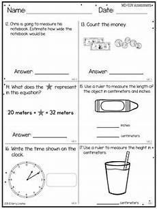 second grade end of year common core math assessment by berry creative