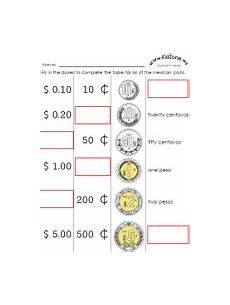 counting money worksheets in peso 2196 mexican money worksheets