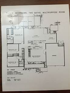 eichler house plans eichler homes floor plan sv 1463 original at ucla library