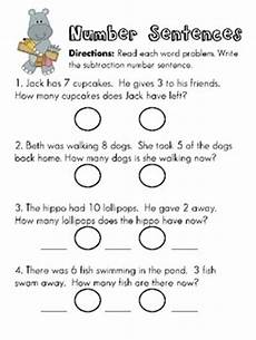 subtraction number sentences worksheets 10257 writing subtraction number sentences from word problems also pinned addition math