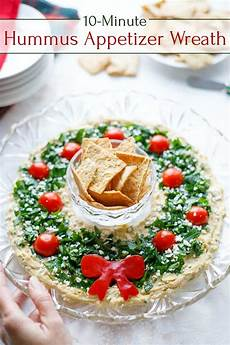 easy christmas appetizer quot hummus wreath quot two healthy kitchens