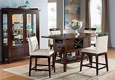 julian place chocolate vanilla 5 pc counter height dining