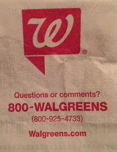 walgreens store return policy