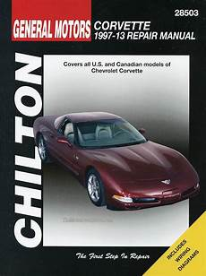 vehicle repair manual 1997 chevrolet corvette on board diagnostic system chevrolet corvette service repair manual 1997 2013 by chilton