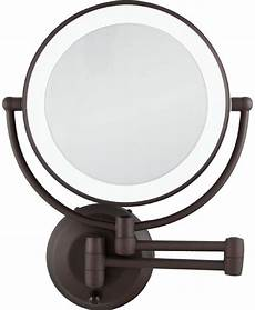 zadro 1x 10x cordless led lighted wall makeup mirror
