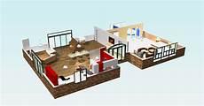 exemple de plan de maison en 3d gratuit plan maison contemporaine en 3d