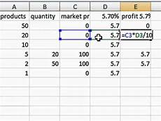 excel sum percentage multiply formula to calculate an