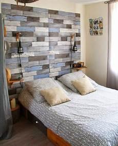 tete de lit bois peint cr 233 er une ambiance bord de mer d 233 co mydecolab