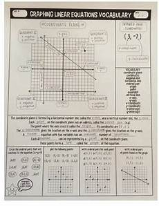graphing linear equations vocabulary guided notes by miss jude math