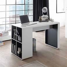 Moderner Schreibtisch Mit Regal In Wei 223 Anthrazit 119x59