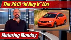 Motoring Monday The 2015 Id Buy It List  TestDrivenTV