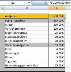 budgetplaner mit excel erstellen chip