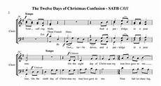 12 days of christmas confusion for satb a cappella chorus