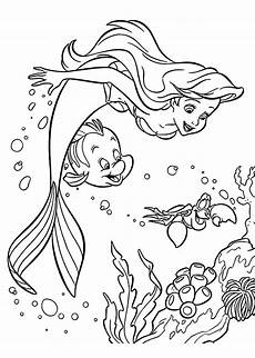 Ausmalbilder Meerjungfrau Pdf Sebastian And Ariel Coloring Pages For Printable