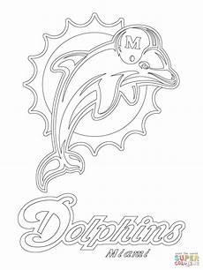 Kostenlose Malvorlagen Delphine Miami Dolphins Logo Coloring Dolphin Coloring